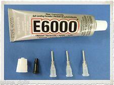 E-6000 Jewellery & Craft Glue Adhesive, 1oz tube and 3 precision tips