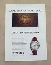 F088 - Advertising Pubblicità - 1992 - SEIKO CRONOGRAFO ANALOGICO