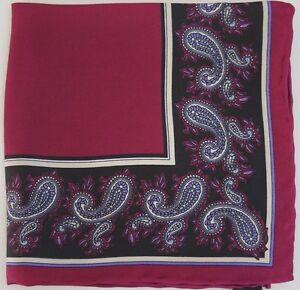 NWOT Authentic MICHELSONS OF LONDON Silk Pocket Square Handkerchief