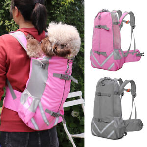 Pet Cat Dog Backpack Carrier Head Out Breathable Puppy Travel Bag Adjustable M L
