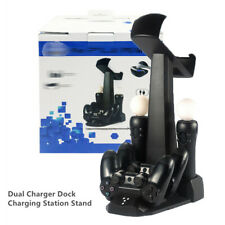 Dual Charger Dock Charging Station Stand Fit for PS4 Playstation VR PSVR Move