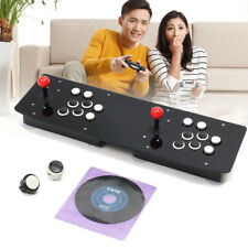 Double Arcade Stick Video Game Joystick Controller Black Acrylic For PC USB