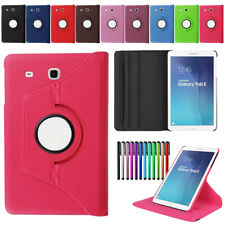 """Rotating Folio Leather Case Stand Cover for Samsung Galaxy Tab 3 4 A E 7""""-10.1"""""""
