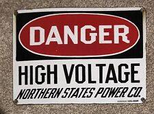 New ListingNorthern States Power Porcelain Sign.Danger/Nsp.Old/Origi nal/Genuine
