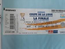 ticket billet football Finale coupe de la ligue Marseille / Bordeaux 27/03/2010