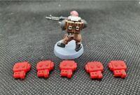 5x 28mm Wargames Backpacks - Warhammer40k Astra Militarum, Imperial guard
