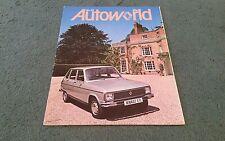 1977 RENAULT AUTOWORLD Magazine Number 62 - Renault 6 TL UK BROCHURE