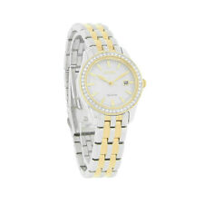 Citizen Eco-Drive Ladies Silhouette Crystal Date Two Tone Watch EW1908-59A