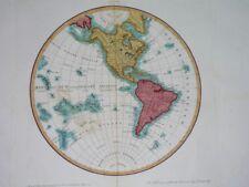 1810 NICE ORIGINAL MAP TEXAS CALIFORNIA UNITED STATES FLORIDA CANADA HAWAII