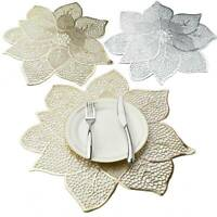 Placemat Table Mat Simulation Bauhinia Flower PVC Table Pad Coasters Home Decor