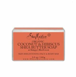 Shea Moisture Organic Coconut And Hibiscus Shea Butter Soap 3.5ounce