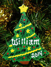 U CHOOSE NAME & YEAR Personalized CHRISTMAS TREE ORNAMENT Holiday Decor