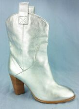 Marc By Marc Jacobs Ladies Silver Cowboy Boots Size 36 Made In Italy US Womens 6
