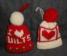 Lot of 2 Knitted Caps Ornaments - See Photos