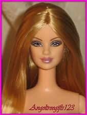 Nude Barbie mackie sculpt socity girl  hairstyle perfect for ooak