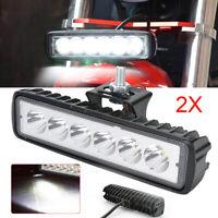 2Pcs 12V 6 LED DRL DAYTIME RUNNING LIGHTS FOG CAR LAMP WHITE DAY DRIVING
