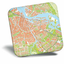 Awesome Fridge Magnet - Amsterdam Urban Street Map Cool Gift #3034
