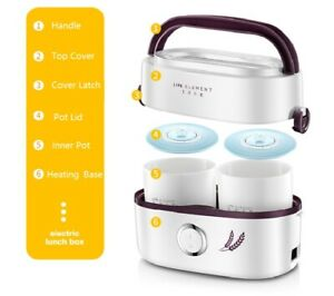 Life Element Mini Electric Portable Steamer Rice Cooker Heater Lunch Box