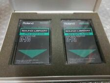 ROLAND D 70 DATA ROM SET - 2 CARDS - new old stock