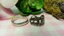 Rings Ring 925 Sterling *Size 6*F234 Beautiful Two Vintage Comedy Tragedy Toe