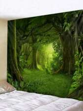USA Green Psychedelic Forest Tapestry Wall Hanging Tapestry Wall Blankets Decor