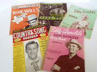 Vintage Country Music Song Books Bob Wills Eddy Arnold Guitar Piano 1942-52 Lot