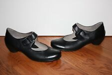 NEW Womens Ecco Black Leather Heels Shoes Size 41