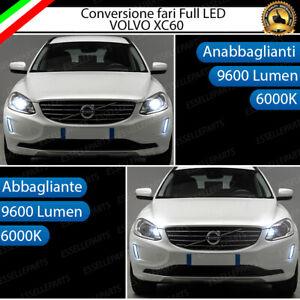 CONVERSIONE FARI FULL LED VOLVO XC60 16000 LUMEN 6000K BIANCO GHIACCIO