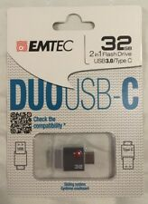 Emtec 32GB 2in1 Flash Drive USB3.0 / Type C Duo Retail Pack Fast Free Shipping