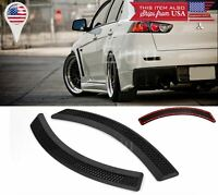 1 Pair Black Tape on Diffuser Fender Flares Lip For BMW Audi Wheel Wall Bumper
