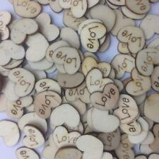 Rustic Wooden Love Heart Wedding Table Scatter Decoration Crafts Decor YD