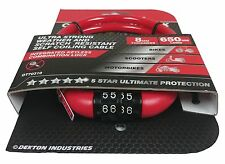 Dekton 5-STAR Protection Combination Number Bike Bicycle Cycle Lock 8mmx650mm.