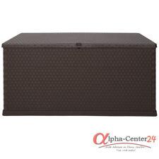 Kissenbox Auflagenbox Polyrattan Design Kunststoff braun Garten