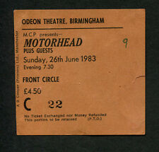 1983 Motorhead concert ticket stub Birmingham UK Another Perfect Day Heavy Metal