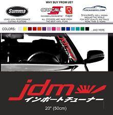 JDM kanji car sticker windshield windscreen JDM Mugen front glass decal