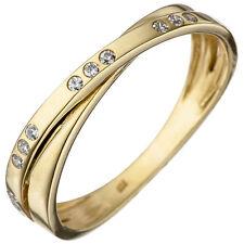 Ringe mit Edelsteinen im Cluster-Stil aus Gelbgold für die Verlobung
