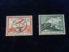 LOT DE 2 TIMBRES LVF 1941  YVERT N° 1 et 2   Oblitérés