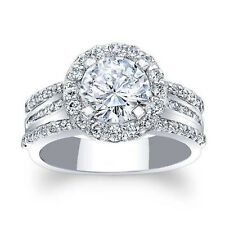 Womens Wedding Bands Size 7 6 14k White Gold 1.88Ct Moissanite Engagement Rings
