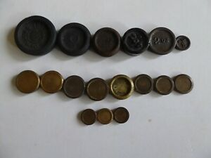 Vintage Imperial Cast Iron /  Brass Round Weights  job lot