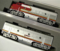 KATO DCC COMBO 1762121DCC + 1762211DCC N SCALE F7A/B DCC SET ATSF Warbonnet