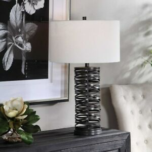 """ALITA INDUSTRIAL FARMHOUSE INSPIRED METAL 29"""" ACCENT TABLE LAMP UTTERMOST 28213"""