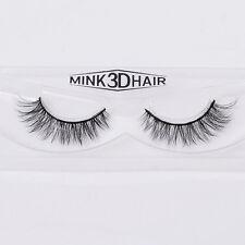 100% Real Mink 3D Hair Natural False Fake Eyelashes Cross Winged Eye Lashes New
