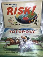 Waddingtons Vintage Totopoly with Metal horses. 1940s.waddintons Risk Board Game