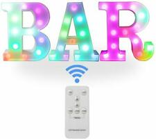 🎀 Remote Color Changing BAR Sign Decorative Led Illuminated Lights Marquee 🎀