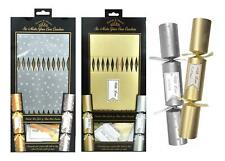 12 Make Your Own Christmas Crackers DIY Silver Gold Luxury Xmas Tags Motto Empty
