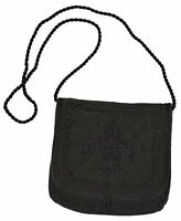 Genuine Leather Handbag Purse Moroccan Women Shoulder Bag Tooled Leather Magenta