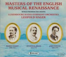 C.D.MUSIC  D394   MASTERS OF THE ENGLISH MUSICAL RENAISSANCE :  2 DISC SET