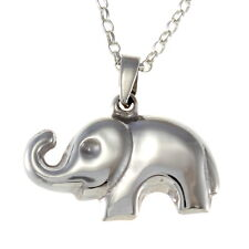 "Sterling Silver Baby Elephant Pendant with 18"" Chain & Box"