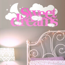 Sweet Dreams vinyl wall art sticker Modern Quote Home  Kids  Bedroom Decorations