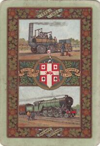 #sh162  Vintage genuine playing card worshipful WIDE green  edge    1925